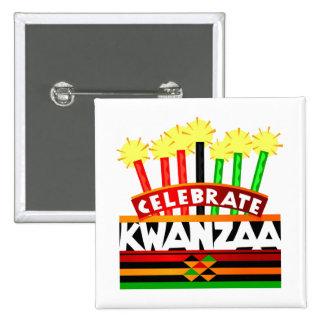Celebrate Kwanzaa Pinback Button
