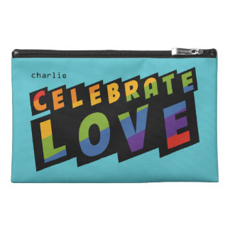 Celebrate Love custom monogram accessory bags