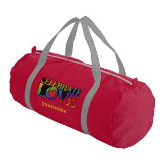 Celebrate Love custom monogram gym bag Gym Duffel Bag