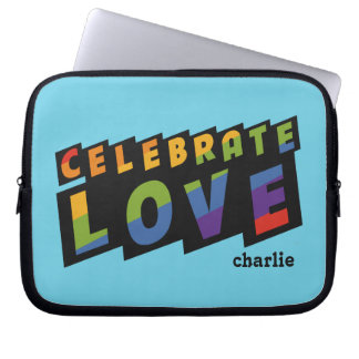 Celebrate Love custom monogram laptop sleeves