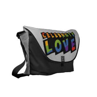 Celebrate Love custom monogram messenger bags