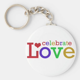 Celebrate Love Basic Round Button Key Ring
