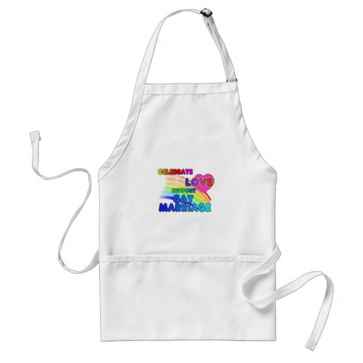 Celebrate Love-Support Gay Marriage Apron