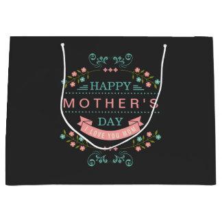 Celebrate Mother's Day - Stylish Flowers Decor Large Gift Bag