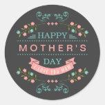 Celebrate Mother's Day - Stylish Flowers Decor Round Sticker