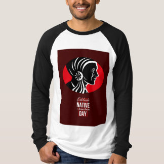 Celebrate Native American Day Retro Poster Card T-shirts