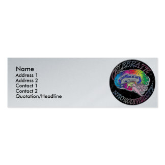 Celebrate Neurodiversity Profile Card Pack Of Skinny Business Cards