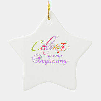 CELEBRATE NEW BEGINNING CHRISTMAS ORNAMENT