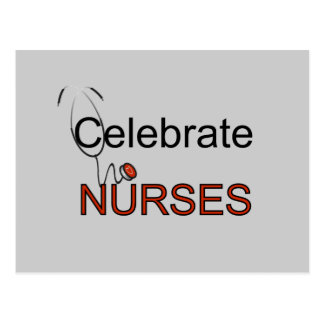 Celebrate Nurses T-shirts and Gifts Postcards