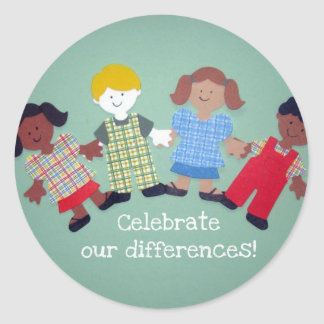 Celebrate Our Differences! Round Sticker