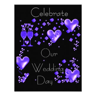 Celebrate Our Wedding Day Personalized Announcement