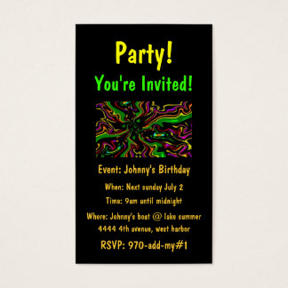 Celebrate Party Invite Cards