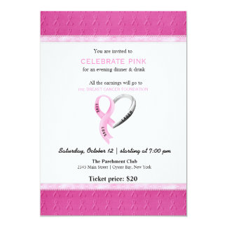 Celebrate Pink event 13 Cm X 18 Cm Invitation Card