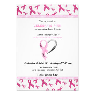 Celebrate Pink event Personalized Announcements