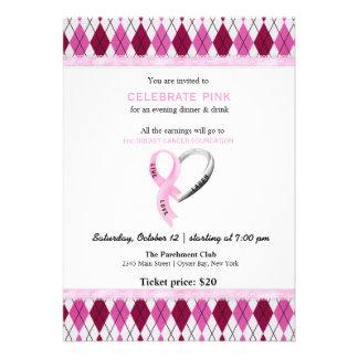 Celebrate Pink event Custom Invitations
