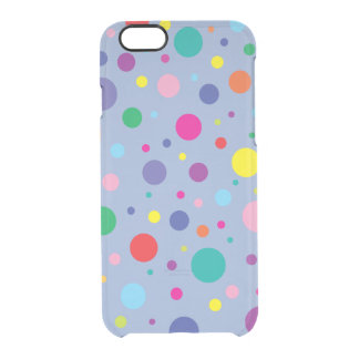 Celebrate | Polka Dots | Customised Background Clr Clear iPhone 6/6S Case