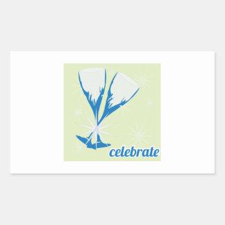 Celebrate Rectangular Sticker