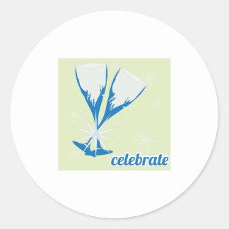 Celebrate Round Sticker