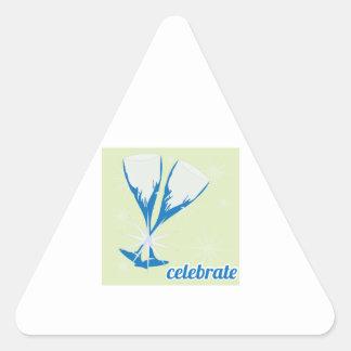 Celebrate Triangle Stickers