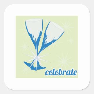 Celebrate Square Sticker