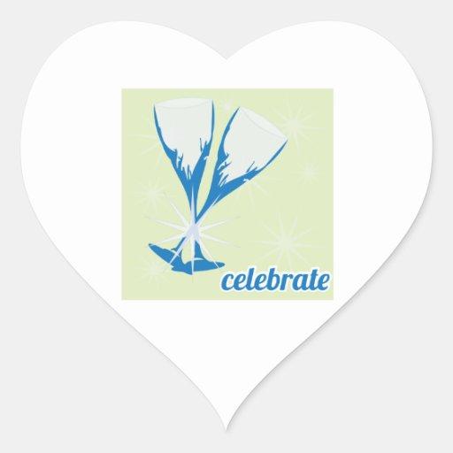 Celebrate Heart Stickers