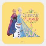 Celebrate Summer Square Stickers