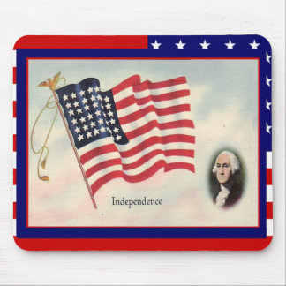 Celebrate the 4th of July George Washington Mouse Pad