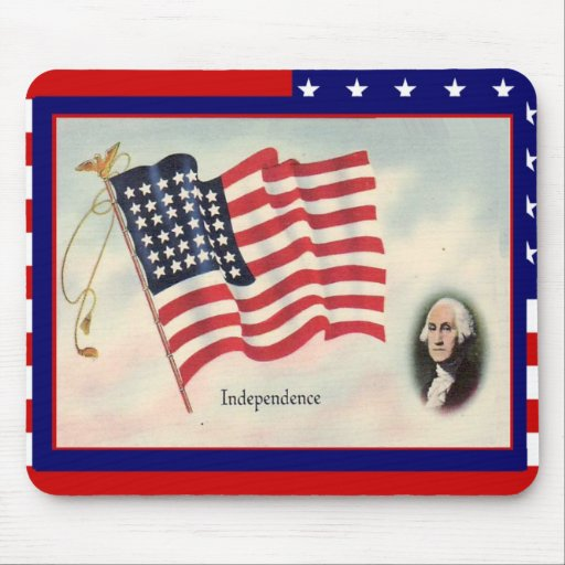 Celebrate the 4th of July, George Washington Mouse Pad
