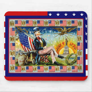 Celebrate the 4th of July, Uncle Sam Mouse Pad
