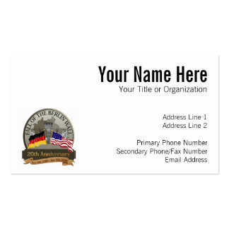 Celebrate the Fall of the Wall Pack Of Standard Business Cards