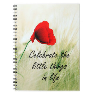 """Celebrate the Little Things"" Personal Journal Spiral Note Book"