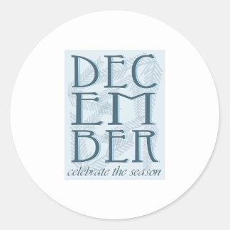 Celebrate The Season Round Sticker