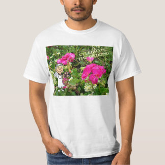 Celebrate the wedding, bridesmaid and flowers T-Shirt