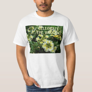 Celebrate the wedding, rings and flowers T-Shirt