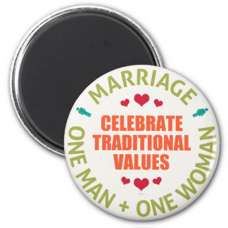 Celebrate Traditional Values 6 Cm Round Magnet