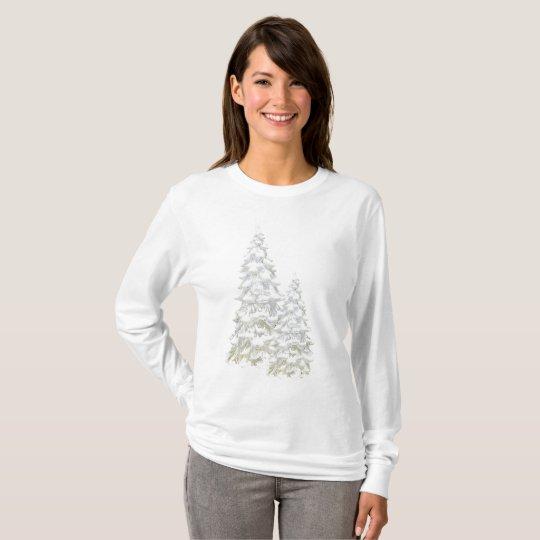 Celebrate Winter Snowy Tree Long Sleeve Top