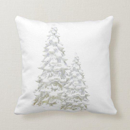 Celebrate Winter Snowy Tree Throw Pillow