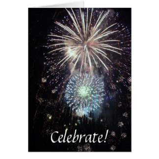 Celebrate With Fireworks Cards