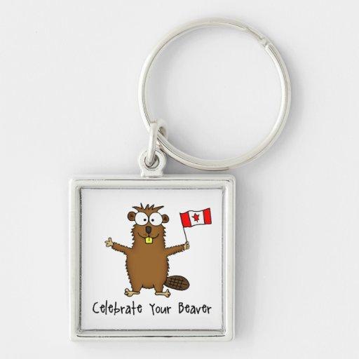 Celebrate Your Beaver Key Chain