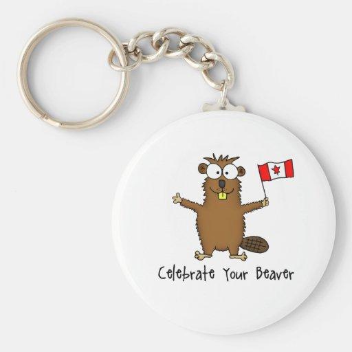 Celebrate Your Beaver Keychain