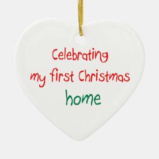 Celebrating 1st Christmas Home Christmas Ornament