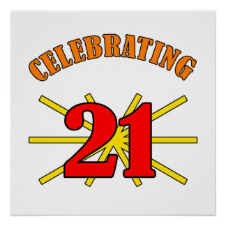 Celebrating 21 Gifts Poster