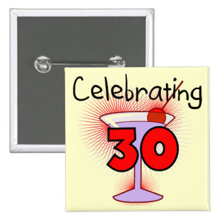 Celebrating 30 Tshirts and Gifts 15 Cm Square Badge