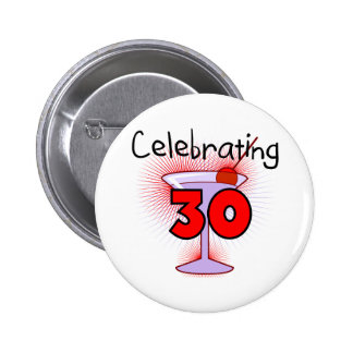 Celebrating 30 Tshirts and Gifts 6 Cm Round Badge