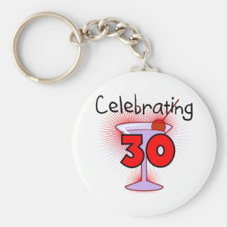 Celebrating 30 Tshirts and Gifts Key Ring