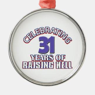 Celebrating 31 years of raising hell christmas tree ornament