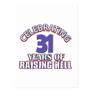 Celebrating 31 years of raising hell postcards
