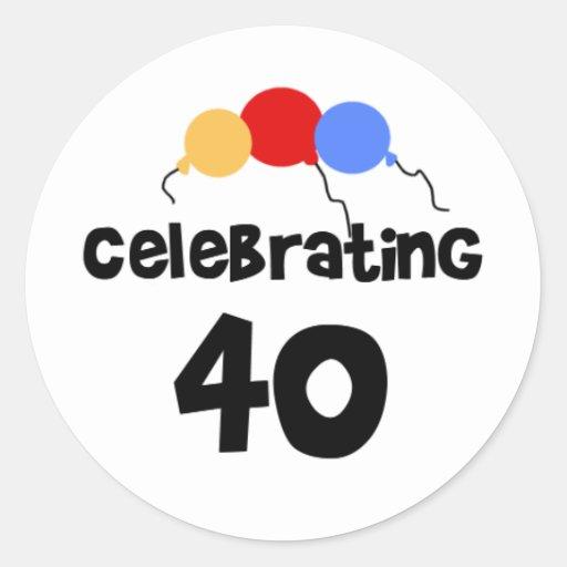 Celebrating 40 sticker
