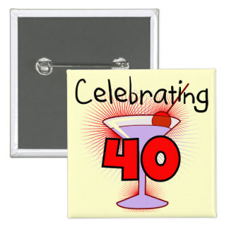 Celebrating 40 Tshirts and Gifts 15 Cm Square Badge