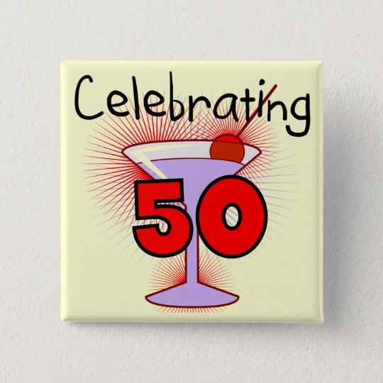 Celebrating 50 Tshirts and Gifts 15 Cm Square